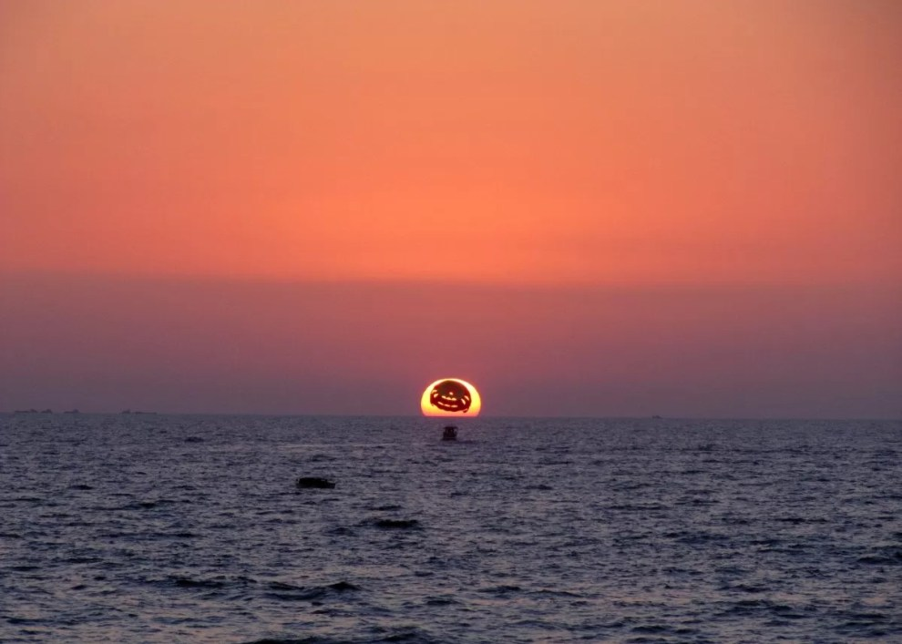 By Aneesha Govil, I took this at the Candolim Beach, Goa earlier this year. Sunset and Parasailing!