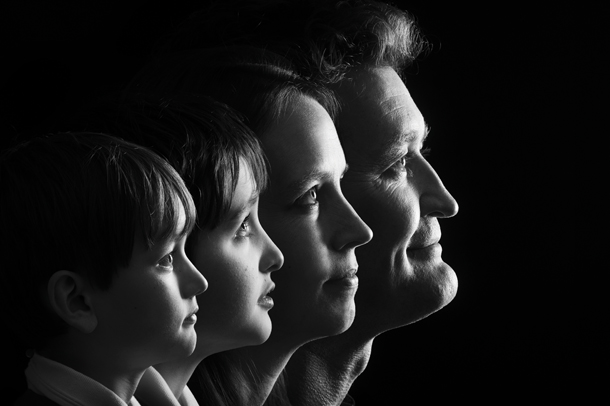 Family Profile There's something about the blend of black & white and only showing their heads that lends a feeling of intellect.