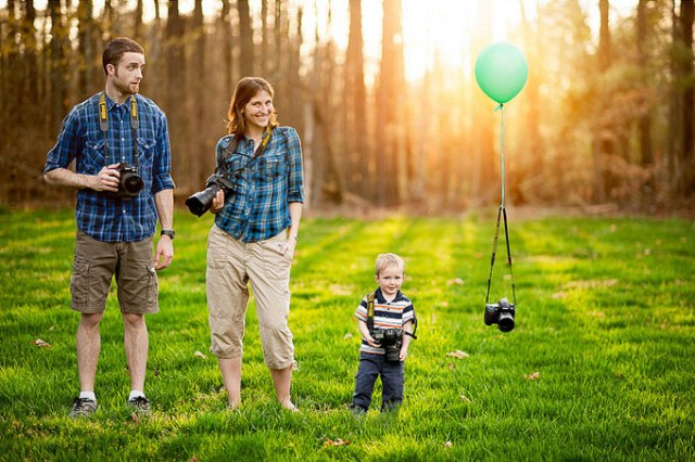Our Family Portrait. Remember to take your camera into the family portrait as well; to most of us photographers, we treat it like a son anyways! The scene, the idea, I enjoy everything Capa12 has taken in this photo. Source: Capa12