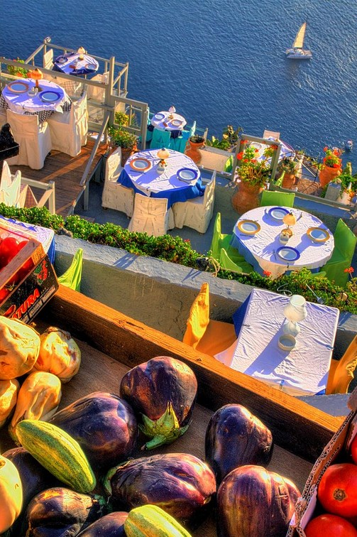 Santorini-market