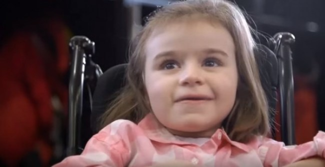 5-Year-Old Girl Can't Walk Or Talk. Then, Her Idol Opens The Door. This Moved Me To Tears.