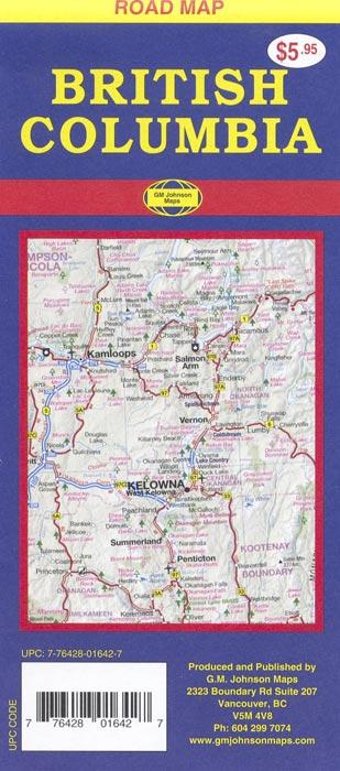 British Columbia Road Map  GM Johnson Maps
