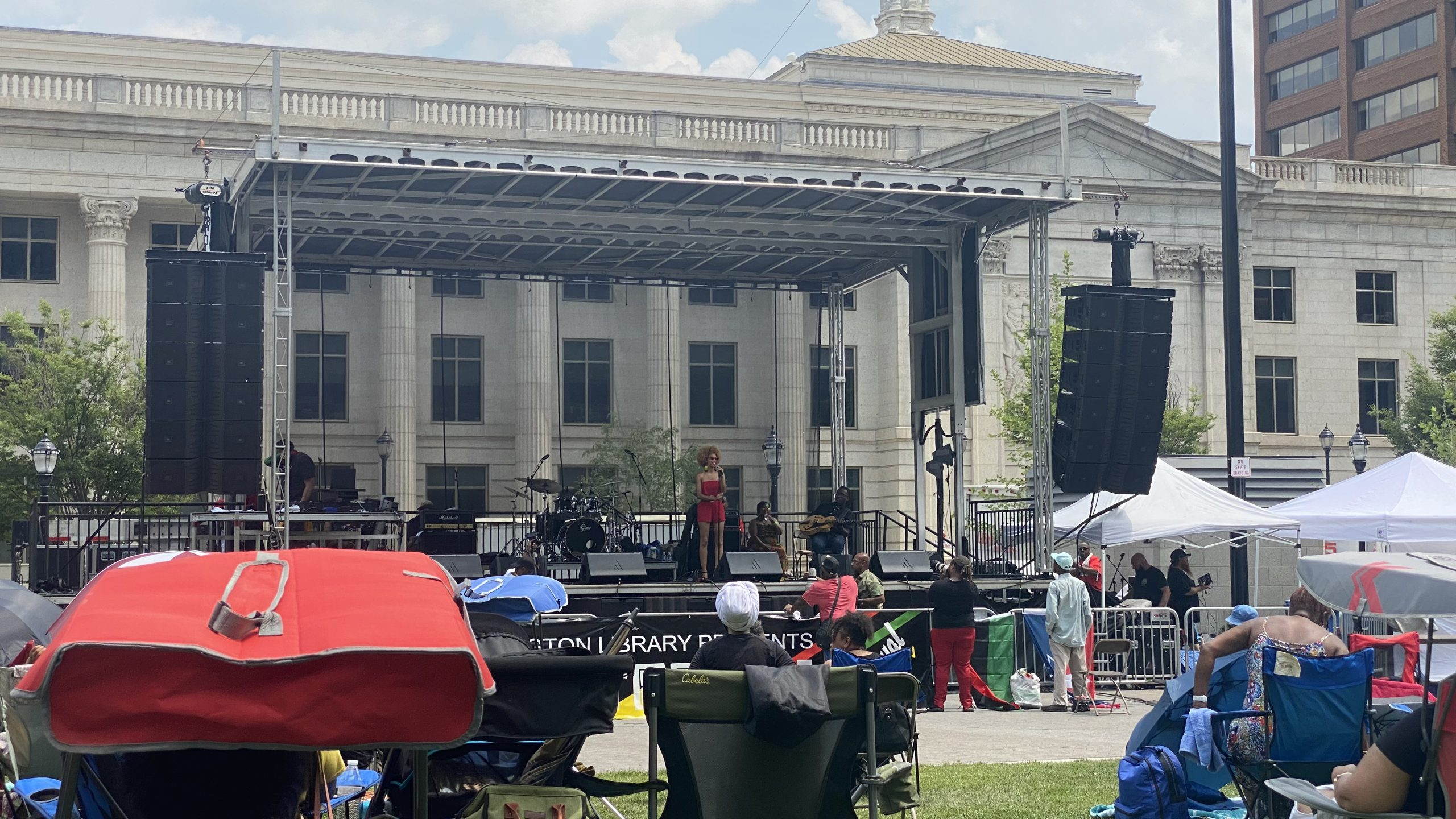 Live performance at the 1st Annual Juneteenth Festival at Rodney Square