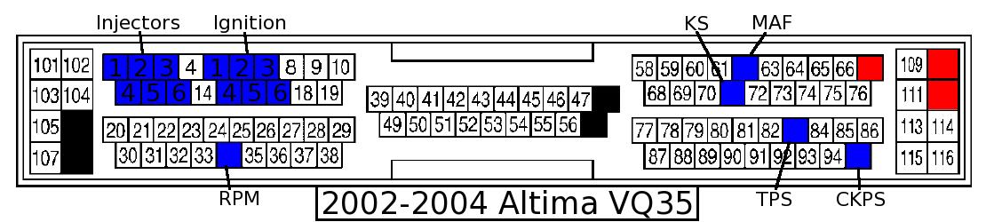 2005 Xterra Ecm Wiring Diagram Ecu Pinout Cheat Sheets Large Images 1000 Px Wide