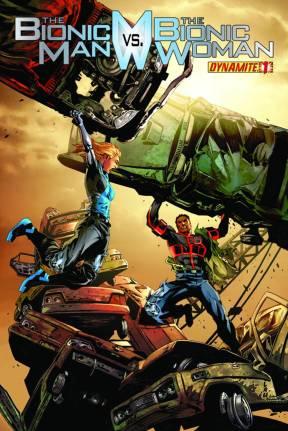 Bionic Man vs Bionic Woman Issue 1 Lau cover