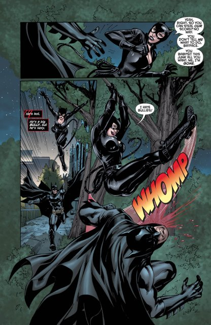 Catwoman and Batman in Young Romance