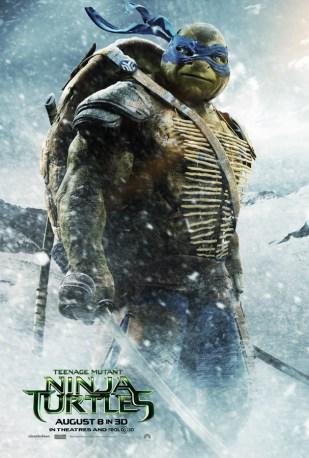 Leonardo Teenage Mutant Ninja Turtle character poster