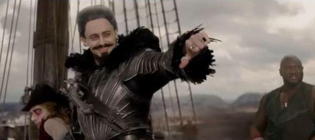 Jackman as Blackbeard