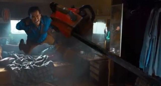 Bruce Campbell Starz Ash chainsaw