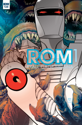 Rom #1 Main cover by J.H. Williams III