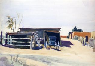 Hopper - Adobes and Shed Mexico