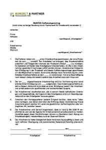muster aufhebungsvertrag zur verlngerung der probezeit - Verlangerung Probezeit Muster