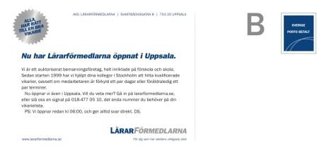 Byrå: Brand Design. AD och projektledare: Ida Alfredsson. Copywriter: Ulf Börgesson.
