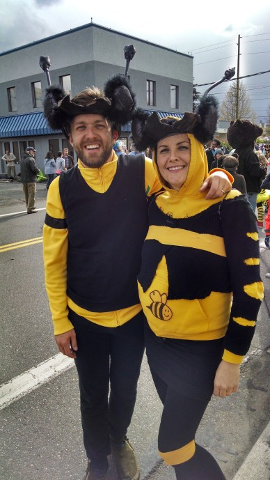 Federica and I were in the Procession of the Species this year, featuring awesome bee costumes she made!
