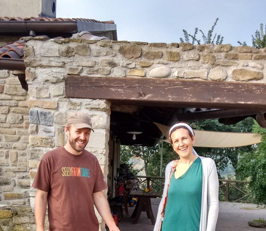 Evan and Federica at Borgo Basino