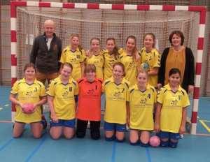 Borhave D1 seizoen 2013-2014 met shirtsponsor voorzijde: Tuinpracht Nijhuis (Borne)