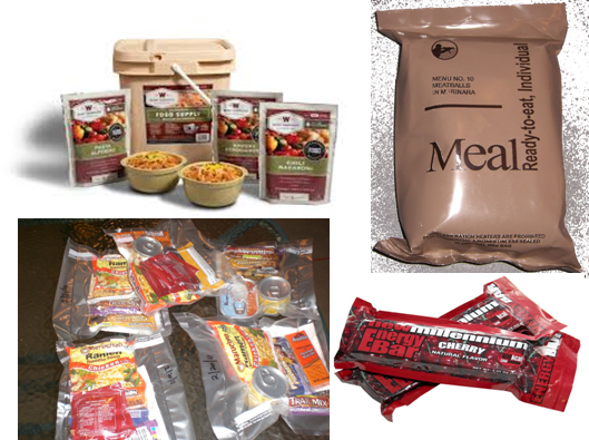 MRE for bug out bags