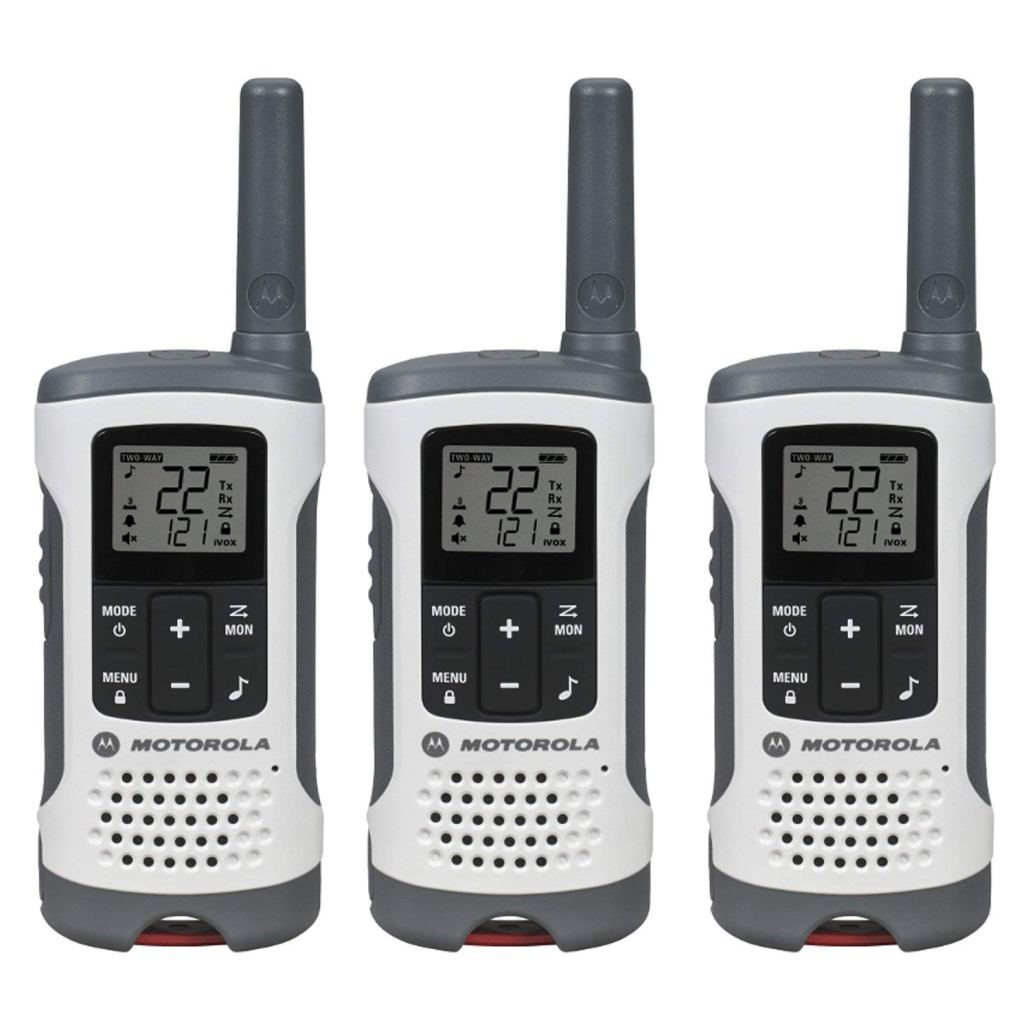 Three Motorola T260 radios