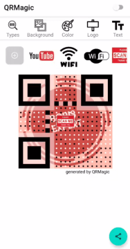 icon in middle of the qr code