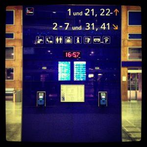 Innsbruck Hauptbahnhof Info Panel