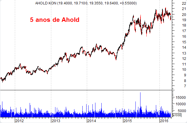 Ahold gráfico 5 anos