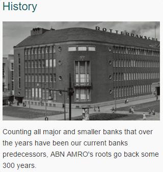 história do ABN AMRO