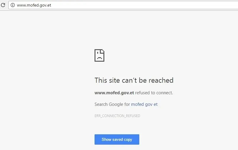 Ethiopia : Multiples of websites including Ministry of