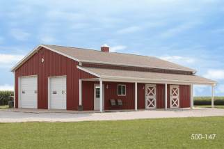 post frame horse barn and storage building