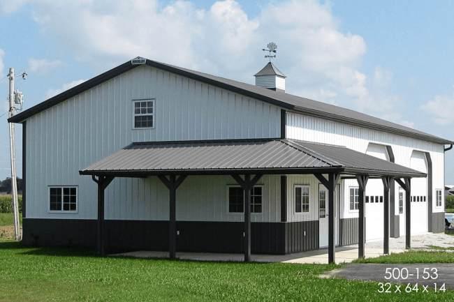 pole barn storage building
