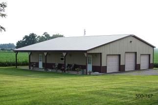 post frame storage building hobby shop