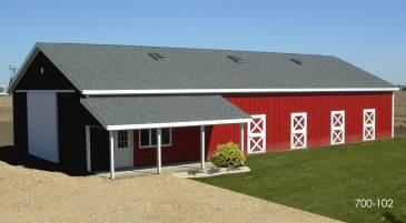 pole building horse barn