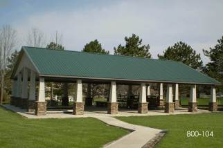 Pavilion Picnic Area Post Frame