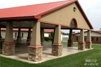 Pole Barn Pavilion outdoor space