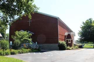brick church building