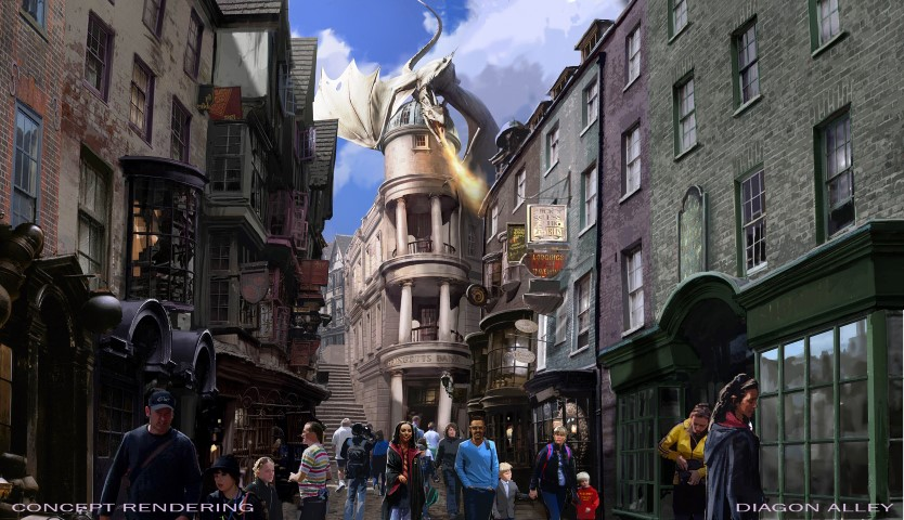 UNIVERSAL ORLANDO RESORT REVEALS DETAILS FOR THE WIZARDING WORLD OF HARRY POTTER – DIAGON ALLEY