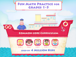 Splash Math iPad application for 1st grade math and web application: Splash Math – Grades 1 to 5 Review.