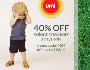 Umi Shoes Sale 40% Off Select Sneakers – 3 Days Only!