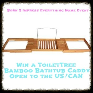 ToiletTree Bamboo Bathtub Caddy- Review and Giveaway
