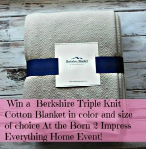 Berkshire Triple Knit Cotton Blanket – Review and Giveaway!