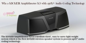 KICKER  K3 Wireless Speaker System with aptX® Audio Coding Technology- Review and Giveaway