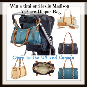 All About Baby Event- The timi & leslie Madison 7-Piece Diaper Bags Sophisticated and Stylish