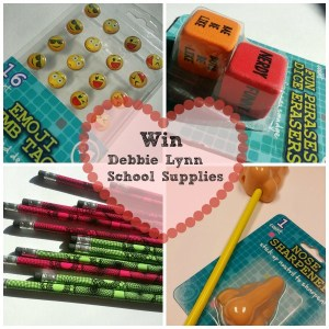 Who Said School Supplies Can't be Fun! Debbie Lynn Products Giveaway.