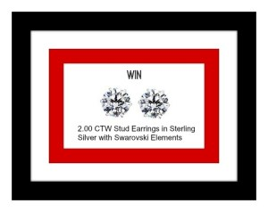 Born 2 Impress Holiday Gift Guide-2.00 CTW Stud Earrings in Sterling Silver with Swarovski Elements Giveaway