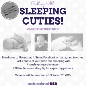 Show us your Sleeping Cutie and win a Complete Sleep System from Naturalmat USA!