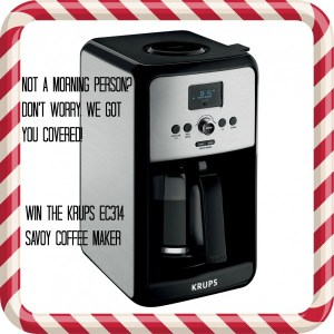 Wake up and Smell the Coffee-Krup's EC314 Savoy Coffee Maker the Perfect Way to Start your Day!