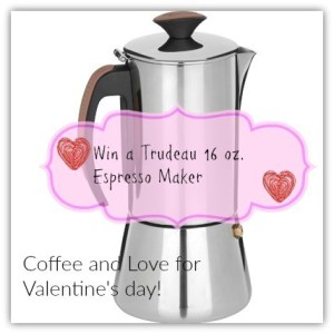 Be My Valentine-Born 2 Impress Trudeau Espresso Coffee Maker Review and Giveaway!