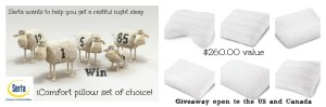 If you haven't found the perfect pillow yet … No Worries !! Serta is here to help – iComfort Pillow Set giveaway