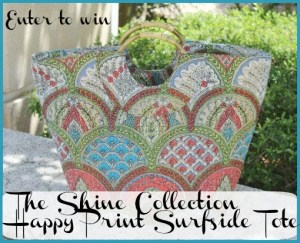 Ready, Set….Summer -Win The Shine Collection Happy Print Surfside Tote!