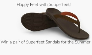 Get Happy Feet this Summer with Supperfeet Comfortable Sandals!