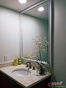 Frame my Mirror is the Easiest and Quickest Way to Give your Bathroom a Makeover for the Holidays!